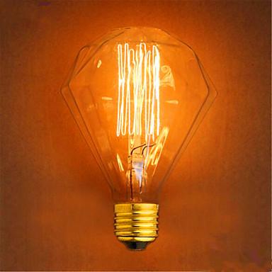 1pç 40W E26/E27 G95 2300 K Incandescente Vintage Edison Light Bulb AC 220V AC 220-240V V