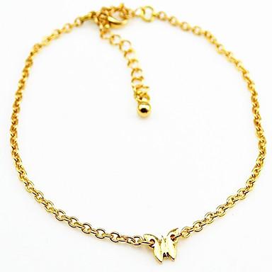 女性の黄金の銀合金アンクレット個