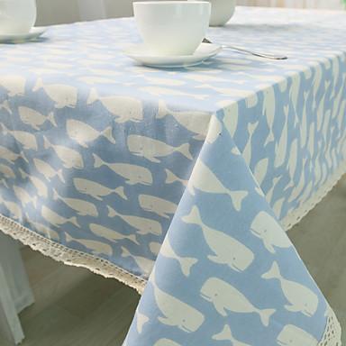 方形 パターン柄 動物 テーブルクロス , コットンブレンド 材料 ホテルのダイニングテーブル 表Dceoration