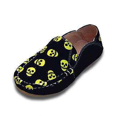 Poikien kengät Mokkanahka Kevät Syksy Mokkasiinit Mokkasiinit varten Kausaliteetti ulko- Musta Hopea Keltainen Sininen