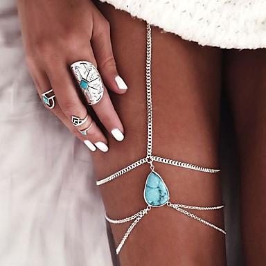 voordelige Dames Sieraden-Dames Enkelring Beenketting Drop Tupsu Europees Enkelring Sieraden Zilver / Gouden Voor Bruiloft Dagelijks Causaal Strand