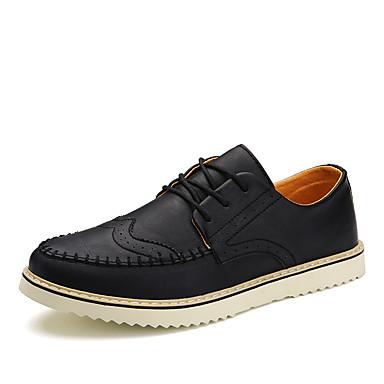 メンズ 靴 レザーレット 春 夏 秋 冬 コンフォートシューズ オックスフォードシューズ 用途 結婚式 パーティー ブラック グレー Brown
