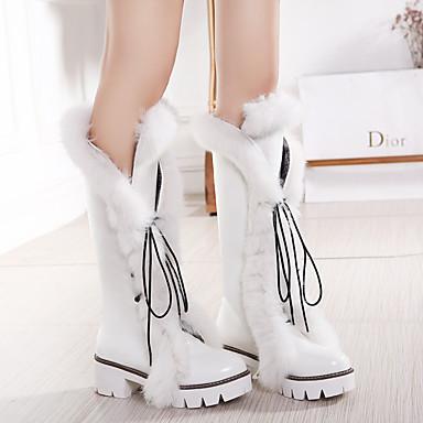 Fourrure Bottes Bout la Bottier Eté Noir de Bride Lacet Chaussures Blanc rond Cheville Marche Femme 05461675 Polyuréthane Bottes Argent Mode à Talon 5Z06w