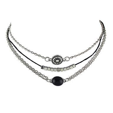 女性用 チョーカー  -  ベーシック シルバー ネックレス 用途 パーティー, 日常, カジュアル