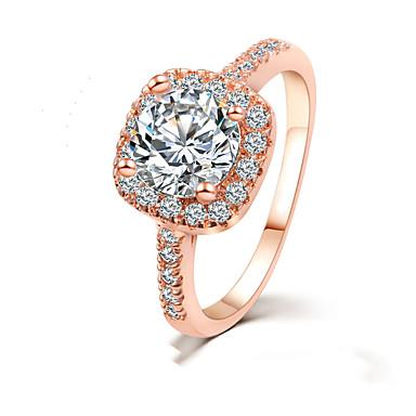 Mulheres Anel Cristal Dourado Prata Liga Estiloso Casamento Festa / Noite Jóias de fantasia