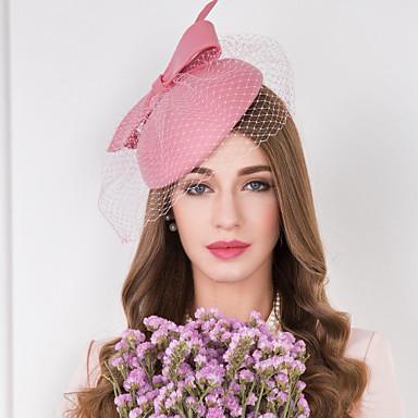 voordelige Hoeden-Wol / Tule / Net Kentucky Derby Hat / fascinators / hatut met Bloemen 1pc Bruiloft / Speciale gelegenheden  / Causaal Helm