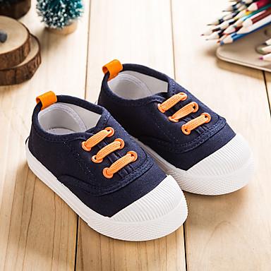 Tyttöjen kengät Canvas Kevät Kesä Syksy Comfort Tasapohjakengät Kävely Käyttötarkoitus Kausaliteetti Tumman sininen Punainen Vihreä