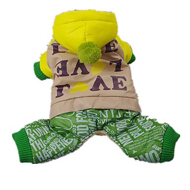 犬 セーター ジャンプスーツ 犬用ウェア 高通気性 カジュアル/普段着 文字&番号 虹色 コスチューム ペット用