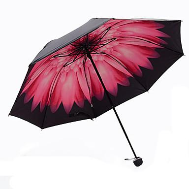Muovi Miesten / Naisten / Tyttöjen Auringonvarjo Taitettava sateenvarjo