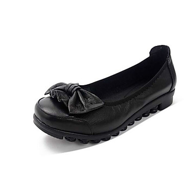 Dame-KunstlærAnnet-Flate sko-Friluft-Svart Burgunder