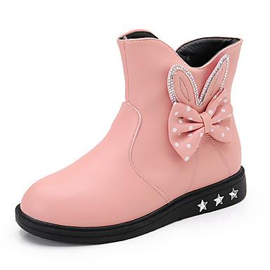 Tyttöjen Kengät Tekonahka Comfort Bootsit Käyttötarkoitus Kausaliteetti Musta Punainen Pinkki