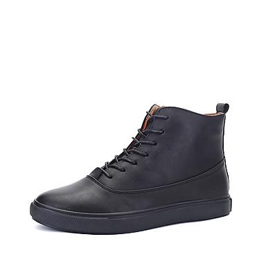 Miesten kengät PU Talvi Syksy Comfort Maiharit Bootsit varten Urheilullinen Kausaliteetti ulko- Musta Ruskea