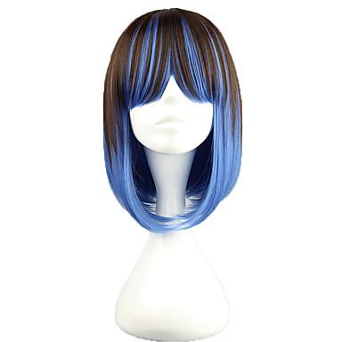 Lolita Wigs Punk Lolita Zářící barvy Lolita Paruky 40 CM Cosplay Paruky Patchwork Paruka Pro