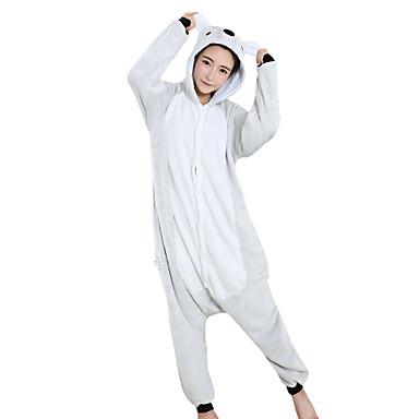 Adulto Pijamas Kigurumi Koala Pijamas de una pieza Mink Velvet Gris Cosplay por Hombre y mujer Ropa de Noche de los Animales Dibujos animados Festival / Celebración Disfraces