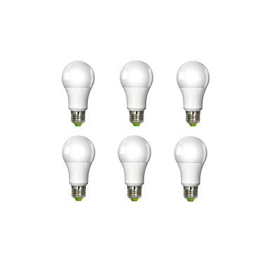 6pcs 7W 450-500lm E26 / E27 LED Globe Bulbs A60(A19) 1 LED Beads COB Warm White 100-240V / 6 pcs / RoHS