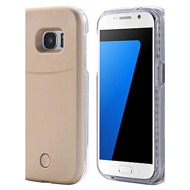 Hülle Für Samsung Galaxy Samsung Galaxy S7 Edge LED Rückseite Volltonfarbe Hart PC für S8 Plus S8 S7 edge S7 S6 edge plus S6 edge S6