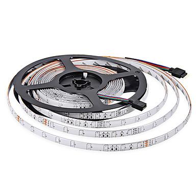 5 m Fleksible LED-lysstriper 60 LED 3528 SMD RGB Vanntett 12 V / IP65