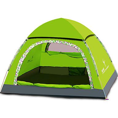 FLYTOP 3-4 henkilöä Teltta Kolminkertainen teltta Yksi huone Upota teltta Kosteuden kestävä Hyvin ilmastoitu Sateen kestävä Taiteltava