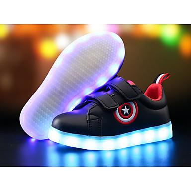 tanie Od 4 do 7 lat-Dla chłopców PU Adidasy Małe dzieci (4-7 lat) / Wielkie dzieci (7 lat +) Wygoda / Świecące buty LED Biały / Czarny Wiosna i lato / TR / EU36
