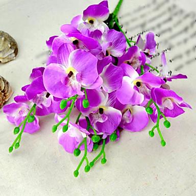 2 demet / lot modern ipek orkide dekorasyon için güve orkide yapay çiçek