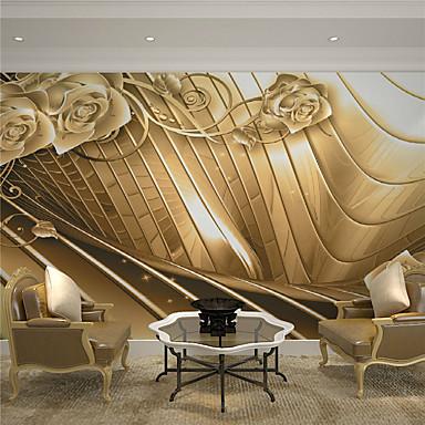 Art Deco 3D Hjem Dekor Luksus Tapetsering, Lerret Materiale selvklebende nødvendig Veggmaleri, Tapet