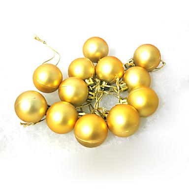 クリスマスデコレーション クリスマスパーティー用品 おもちゃ 球体 プラスチック 24 小品