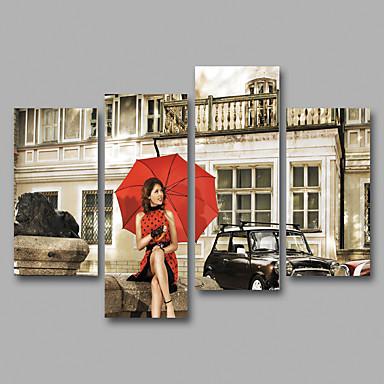 Ihmiset Perinteinen,4 paneeli Kanvas Horizontal Painettu Wall Decor For Kodinsisustus