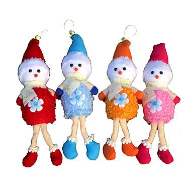 ドール クリスマスデコレーション クリスマスパーティー用品 クリスマス向けおもちゃ クリスマスツリー飾り おもちゃ 雪だるま メタル 4 小品 ギフト