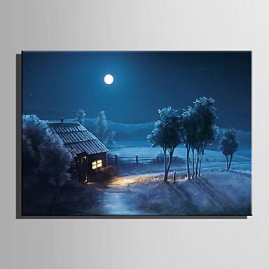 LED canvas-taide Maisema Pastoraali European Style,1 paneeli Kanvas Vaakasuora Tulosta Art Wall Decor For Kodinsisustus