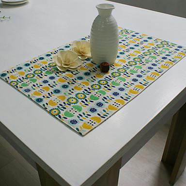 方形 フラワー プリント パターン柄 プレイスマット , コットンブレンド 材料 ホテルのダイニングテーブル 表Dceoration