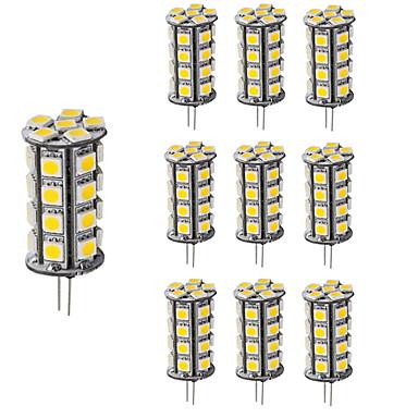 4W G4 LED2本ピン電球 T 30 SMD 5050 360 lm 温白色 クールホワイト 明るさ調整 装飾用 DC 12 V 10個