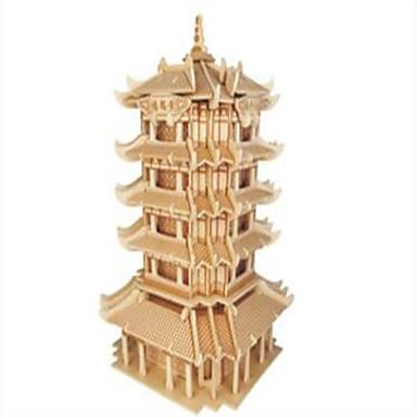 Holzpuzzle Spielzeuge Kämpfer Berühmte Gebäude Chinesische Architektur Profi Level Holz Jungen Mädchen 1 Stücke