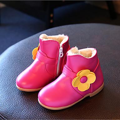 Lapset Tyttöjen Vauvat Kengät Tekonahka Syksy Talvi Comfort Bootsit Tasapohja Pyöreä kärkinen Käyttötarkoitus Kausaliteetti Valkoinen