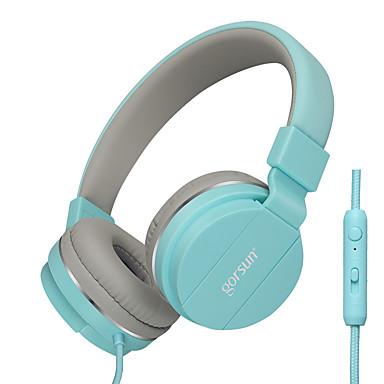 Gorsun GS-779 耳に / ヘアバンド ケーブル ヘッドホン 動的 プラスチック 携帯電話 イヤホン ボリュームコントロール付き / マイク付き ヘッドセット