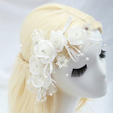 Nachahmung Perlenspitze Strass Blumen Kopfschmuck eleganten Stil