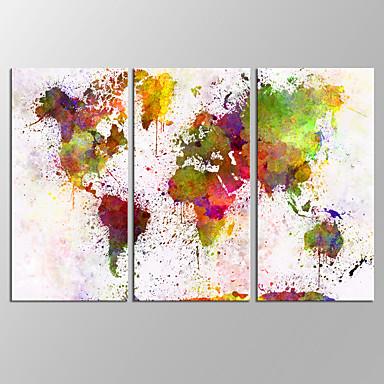 抽象的な風景画 近代の,3枚 キャンバス 横式 プリント 壁の装飾 For ホームデコレーション