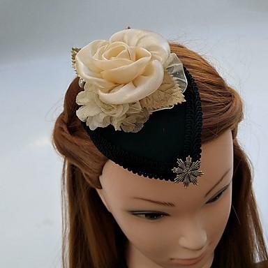 Damen Chiffon Spitze Strass Stoff Kopfschmuck-Hochzeit Besondere Anlässe Kopfschmuck Mützen Haarclip