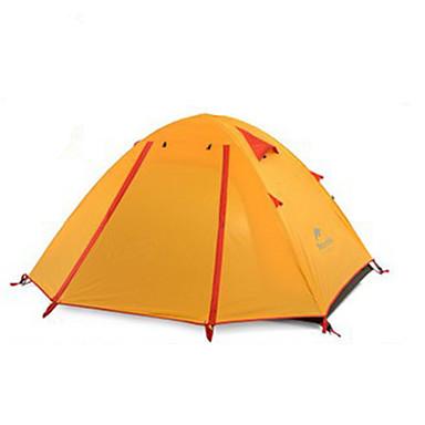 Naturehike 2人 テント ダブル キャンプテント アウトドア 通気性 携帯用 超軽量(UL) 防風 折り畳み式 のために 狩猟 ハイキング キャンピング 旅行 シリコーン キャンバス アルミニウム