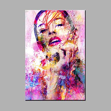 handgemalte abstrakte / abstrakte Porträt Ölgemälde ein Panel Leinwand Ölgemälde