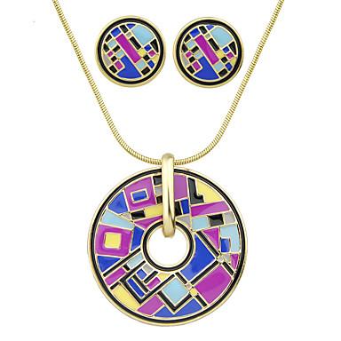 Mulheres Conjunto de jóias - Fashion Incluir Roxo / Vermelho Para Festa / Diário / Brincos / Colares