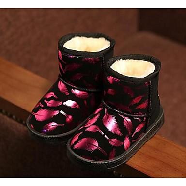 Lapset Tyttöjen Vauvat Kengät PU Comfort Bootsit Käyttötarkoitus Kausaliteetti Hopea Persikka Sininen