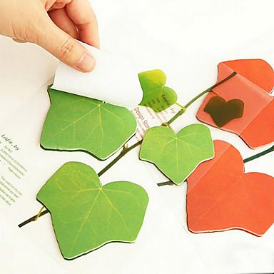 Simulation Blätter Design 45 Seiten Haftnotiz (sortierte Farbe)