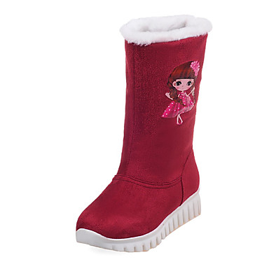 Damen Schuhe Vlies Frühling Herbst Winter Schneestiefel Modische Stiefel Stiefel Plattform Runde Zehe Schnalle Für Normal Kleid Party &