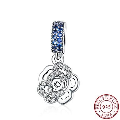ヨーロッパやアメリカのファッションジュエリー925純銀製のペンダントのペンダント吊り - 形状のアクセサリーをバラ