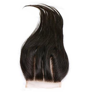 Kinky Ravno Klasik Ravan kroj Ljudska kosa Besplatno dio Središnji dio 3. dio Visoka kvaliteta Dnevno