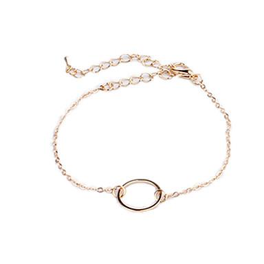 Naisten Ranneketjut Yksilöllinen Love Eurooppalainen Kupari Muuta Circle Shape Korut Lahja Päivittäin Kausaliteetti Pukukorut