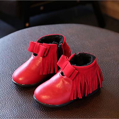 女の子 靴 レザーレット 秋 冬 コンフォートシューズ ブーツ フラットヒール ラウンドトウ 用途 カジュアル グレー イエロー レッド
