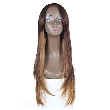 Syntetisk blonder foran parykker Rett Brun Dame Blonde Forside Blonde Parykk Syntetisk hår