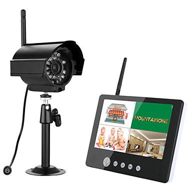 ennio 7 tommers tft digitale 2,4g trådløse kameraer overvåker 4ch quad dvr sikkerhetssystem med ir nattlys