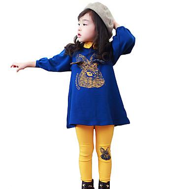 34d65ea50 مجموعة ملابس قطن كم طويل بقع مناسب للخارج نقطة للفتيات طفل صغير
